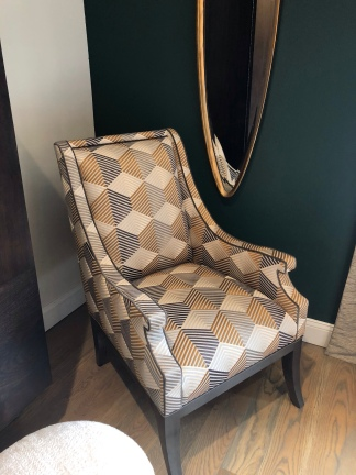 Upholstered chair by Wesley Hall